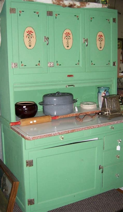 Vintage Kitchen Furniture by Green With Stencils Vintage Kitchen Hoosier Cabinet Made