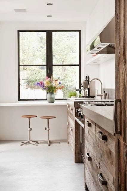 modern country kitchen reclaimed wood cabinets cococozy