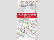 Rock Your Routine with a Printable Planner for Kids