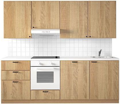 cuisine hyttan küchenfront ikea hyttan eiche klar lackiertes