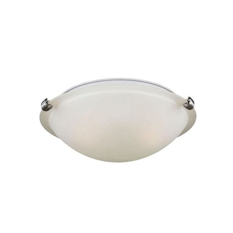 brushed nickel flush mount ceiling light sea gull lighting clip ceiling flush mount 2 light brushed