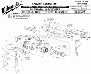 Milwaukee 0224-1 Parts List And Diagram