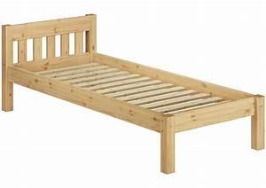 Bett 90x200 Kind : einzel bett kiefer massivholz bett 120x200 cm jugendbett mit rollrost ~ Indierocktalk.com Haus und Dekorationen
