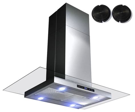 36 Inch Ductless Cabinet Range by Gv 36 Inch Stainless Steel Island Range W Carbon