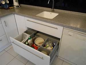 Amenagement Tiroir Cuisine : am nagement de cuisine tiroir poubelles recyclage motoris ~ Edinachiropracticcenter.com Idées de Décoration