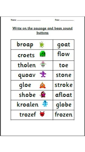 Phonics Oa Ow Oe Oe Family Real And Alien Words By Choralsongster  Teaching Resources