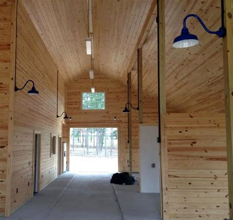 classic barn lights in a space with a for