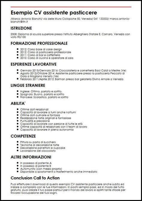 Curriculum Vitae Builder by Curriculum Vitae Cuoco In Inglese