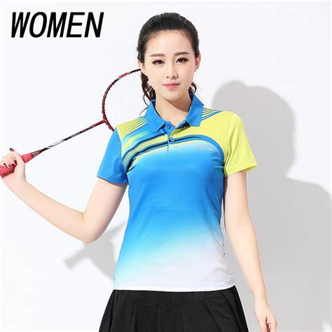 Free shipping new womenu0026#39;s badminton wear T shirts sports wear womenu0026#39;s summer tennis Shirt Short ...