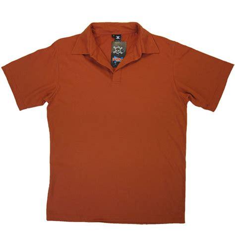 rust colored shirt fabric used to make polo shirts