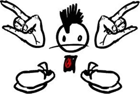 cartoon punk punk hairstyle crash chords