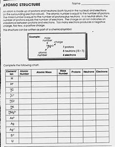 Atomic Structure Chart Worksheet 14  U2013 Myscres  U2013 Std Chart