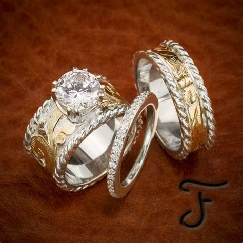 r 10s r 6 and r 7s in 2019 western rustic wedding ideas jewelry western wedding rings