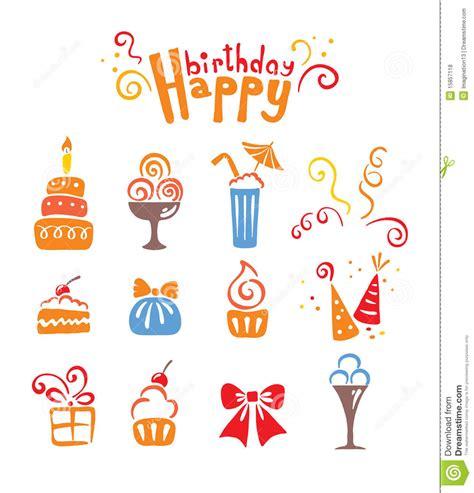 icons birthday royalty  stock  image