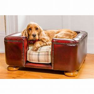 tetford chesterfield dog bed oxblood leather dog sofa by With dog beds near me