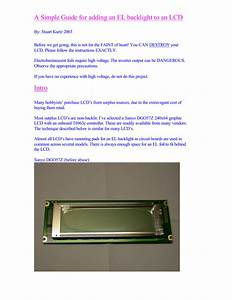A Guide To Adding Your Own El Backlight To An Lcd