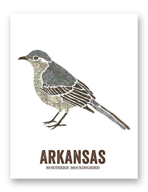 northern mockingbird arkansas state bird nature print