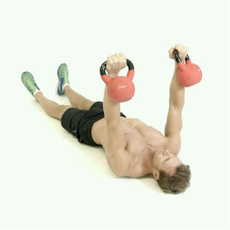 kettlebell chest calf raises presses exercise skimble exercises workout kettlebells lower