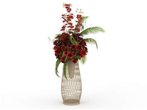 flower floral arrangements stand  model ds max files