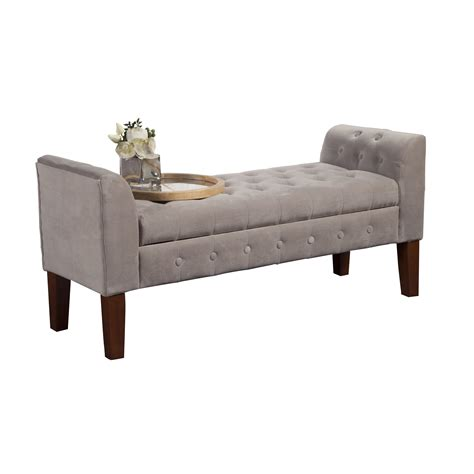 posts wilford upholstered storage bedroom bench
