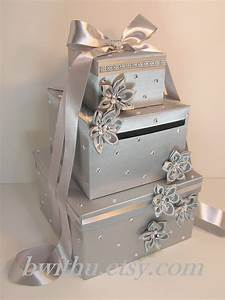 wedding card box silver gift card box money box With gift card box wedding