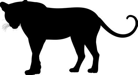 Clipart - Leopard Silhouette