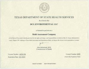 certifications  industry resources dcg environmental