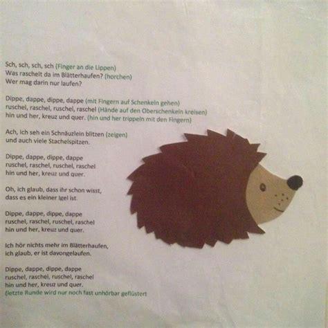 Herbst Kindergarten by Herbst Fingergedicht Ideen Nursery School