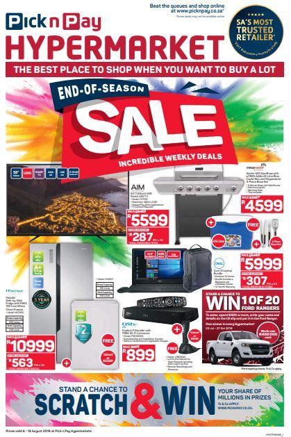 pick  pay hypermarket   season sale  aug