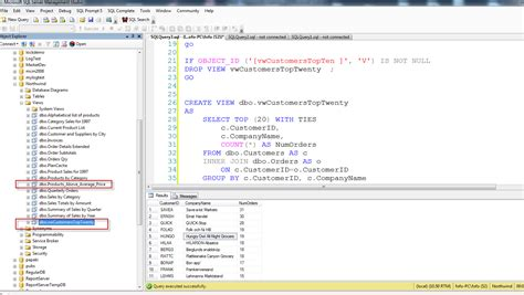 looking into views in sql server dot net