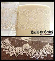 1000 images about wedding cake lace stencils on With lace templates for cakes