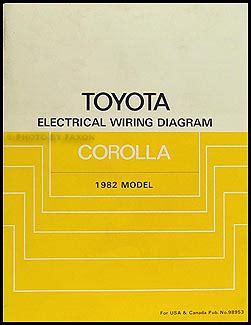 1982 toyota corolla electrical wiring diagram manual original