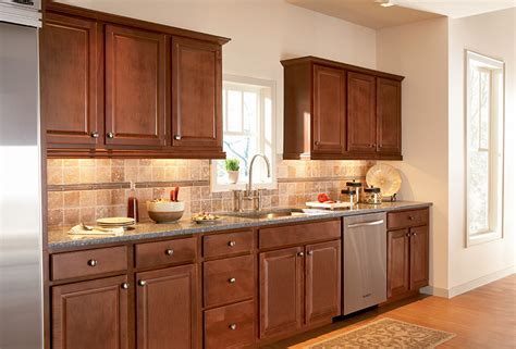 maple cognac kitchen cabinets sunbrook simply woodmark 7346