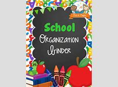 School Organization Binder PreK Pages