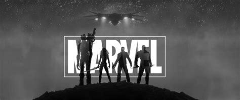 marvel guardians   galaxy black  white hd