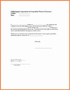 Child Support Agreement Gallery Of Sample Child Support Letter