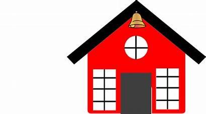 Clipart Clip Bell Schoolhouse Cartoon Vector Transparent