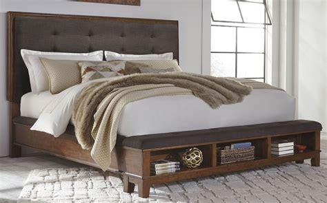 california king platform bed ralene brown king upholstered storage platform bed