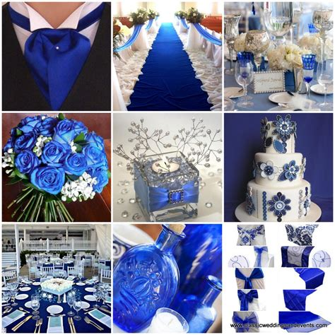 classic weddings and events royal blue wedding ideas