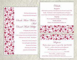 printable wedding invitation suite printable invitation With blank heart wedding invitations