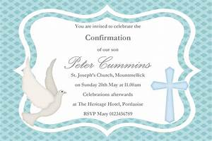 personalised confirmation invitations son design 2 With confirmation invites templates