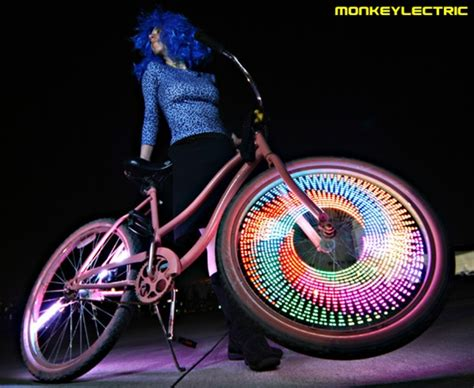 led bike lights monkeylectric led bike wheel light