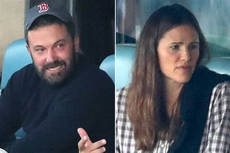 jennifer garner  ben affleck attend world series