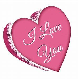 Valentines Day Pink Heart with Lace PNG Clipart Picture ...