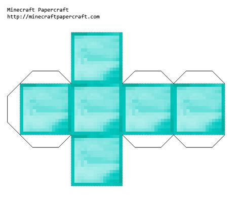 papercraft diamond block minecraft party minecraft