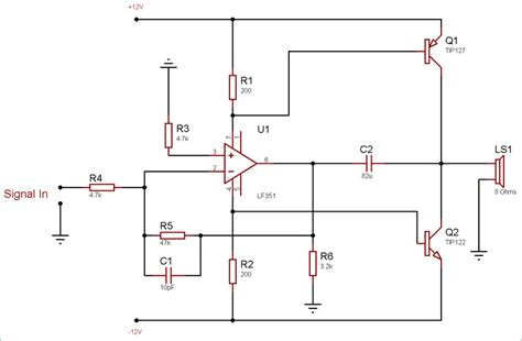 Watt Audio Amplifier Circuit Diagram Using Amp