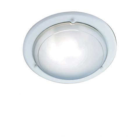 jupiter 702wh flush ceiling light in white