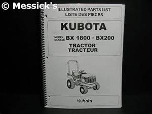 Kubota  Bx1800  Bx2200 Parts Manual  Part   97898