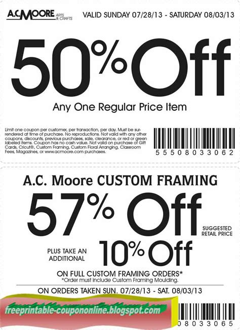 Ac moore coupon december 2018