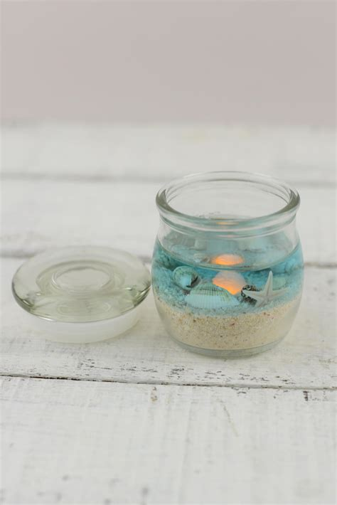 beach jar candle xin battery op beach wedding favors